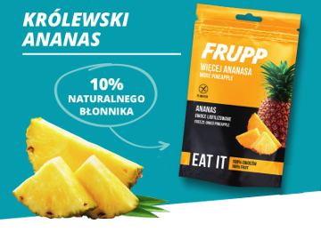 Frupp freeze-dried pineapple – new packaging