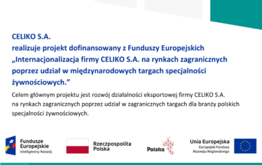 CELIKO S.A. is implementing an EU co-funded project